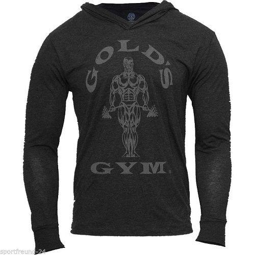 Gold´s Gym Muscle Joe Longsleeve Hoodie - vintage schwarz