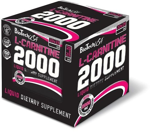 BioTech L-Carnitine Liquid 2000mg 20x25ml