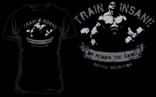 Scitec T-Shirt Train insane