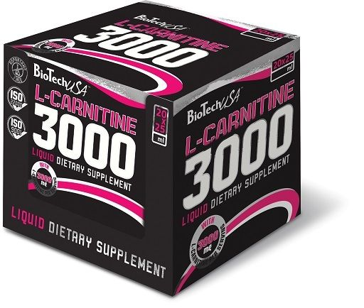 BioTech L-Carnitine Liquid 3000mg 20x25ml