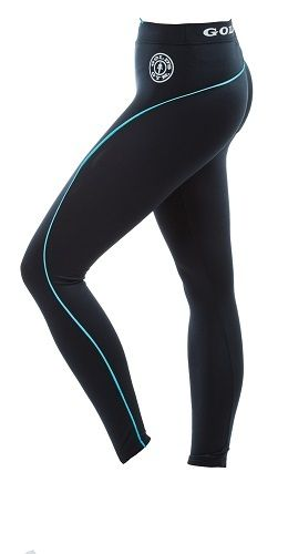 Gold´s Gym GGLPNT023 - Ladies Long Tight Pants - black/turq