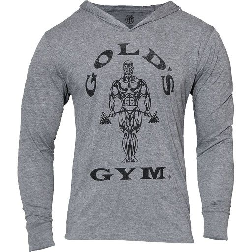 Gold´s Gym Muscle Joe Longsleeve Hoodie - grau