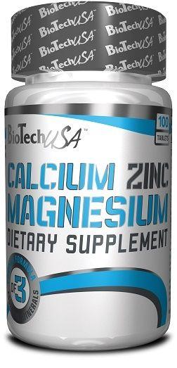 BioTech Calcium Zinc Magnesium - 100 Tabl.
